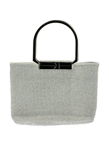 Boutique-Magique sac à main soirée en strass argent ou or