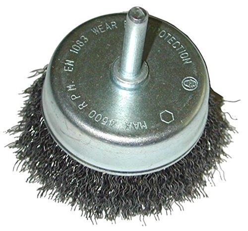 SW-Stahl Pot en fil d'acier Brosse 50 mm, brut pour perceuses, 62203sb