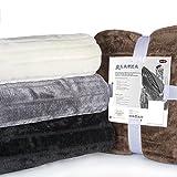 CelinaTex Alaska 5000006 Kuscheldecke, XXL, 200x240, braun, Polar Fleece Sofadecke Felloptik Tagesdecke kuschelige Fellimitat Wohndecke