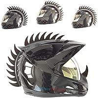 """customTAYLOR33,Zubehör für Motorradhelm, Design """"Warhawk/Mohawk"""" zum Verzieren des Helms, Sägeblatt aus Gummi (Helm nicht im Lieferumfang enthalten)"""