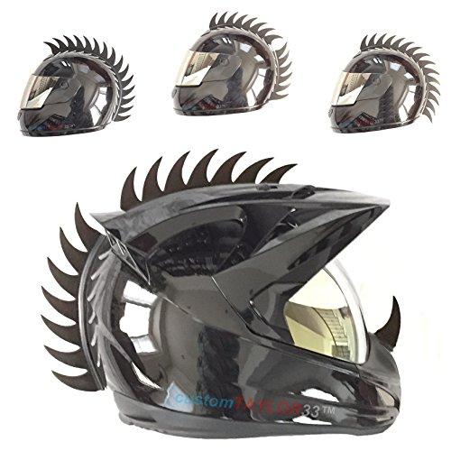 customTAYLOR33Zubehör für Motorradhelm, Design Warhawk/Mohawk zum Verzieren des Helms, Sägeblatt aus Gummi (Helm nicht im Lieferumfang enthalten)