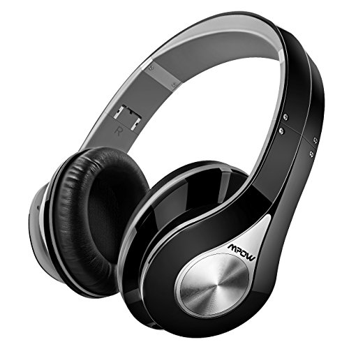 Auriculares de Diadema Bluetooth Inalámbricos para TV, Mpow 059, Cascos Bluetooth Plegable para con Micrófono 20hrs Reproducción de Música Hi-Fi Sonido Estéreo Ligero Manos Libres, PC, Móviles, Gris