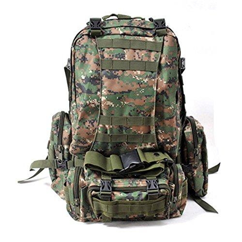 Draußen Taktische Rucksack Schulter Schulter Gehen Wandern Tasche Große Kapelle Rear Duffle Camouflage Pack jungle numbers