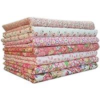 Topker 7pcs / set Tissu en coton pour la couture Quilting Patchwork Home Textile Série rose Tilda Doll Body Cloth