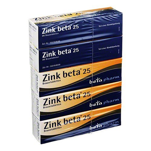 Zink Brausetabletten (Zink Beta 25 Brausetabletten 100 stk)