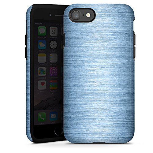 Apple iPhone X Silikon Hülle Case Schutzhülle Metall Look Metal Look - Indigo Tough Case glänzend