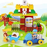 QXMEI Kinderspielzeug Kinderblöcke Kreatives Spielzeug Lernspielzeug Große Partikelblöcke Produktgröße: 11 * 3 * 8.7Zoll