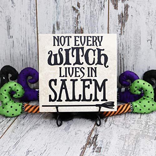 y Hexe Lives in Salem Halloween Vinyl-Aufkleber Zitat Fliese Halloween Zitat Zitat Fliese Hexe Aufkleber Fliese Halloween Dekoration ()