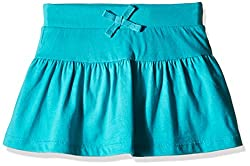 The Childrens Place Girls Active Solid Skirt (2062016_Azul Turq_XL/14)