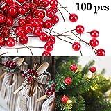 Joyibay 0.39 '' Weihnachtsbeeren Künstliche Beeren Gefälschte Beeren für DIY Dekoration