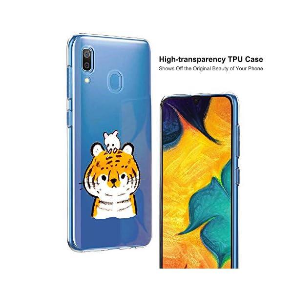Oihxse Funda Samsung Galaxy C9 Pro, Ultra Delgado Transparente TPU Silicona Case Suave Claro Elegante Creativa Patrón… 2