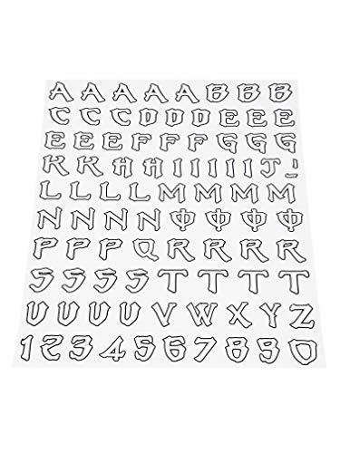 Quattroerre 1230 Kit Lettere Adesive Monster Graffio