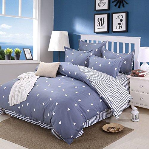 saym Home Bettwäsche Sets eleganten ländlichen Stil Druck Twin Größe Set für Lovely Teen Mädchen 100% Polyester Fasern Bettbezug, Bettlaken, kissenrollen Set 4Stück, baumwolle, Color 11, Volle Größe -