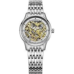 STARKING Women's AL0185SS11 Stainless Still Skeleton Automatic Movement Watch Silver Tone