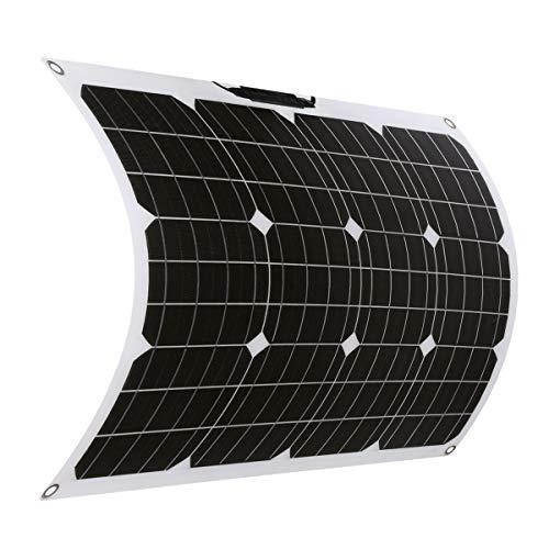 SARONIC 50W 18V ETFE Flexible Mono Solar Panel mit MC4 für Boot, Zelt, Wohnmobil, Auto, Anhänger oder Andere Unregelmäßige Oberflächen