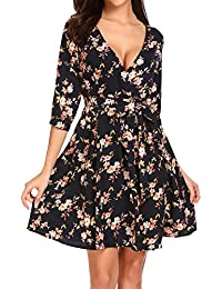 Amazon.fr   robe a fleur - 36   Robes   Femme   Vêtements b14586e845e4