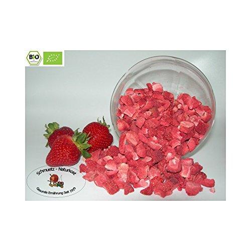 Gefriergetrocknete bio Erdbeeren / Stücke 250g von Schmütz-Naturkost, Bio Trockenfrüchte