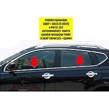 OMTEC ventana lateral Trim Kit para Nissan Qashqai 2007> 2013(5Asiento sólo) yt-qs044