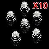 10 X Spiral twist diamond Bridal Wedding Clip Hair Pin Bild 2