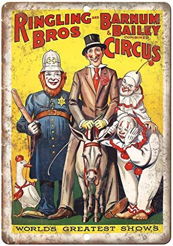 Ringling Bros Barnum Bailey Circus Blechschilder Schilder Eisen Malerei Blech Plakat Warnung Plakette hängende Kunst Plakate Dekorative Cafe Bar -