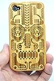 RoseFlower Coque iPhone 4S/iPhone 4 en Bois Véritable - Totem en bambou - Fabriqué...
