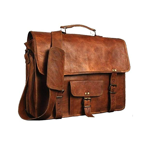 28 cm / 11 Inches Leather Unisex Real Leather Messenger Bag Satchel Christmas Gift Women 51Pk  2BURukL