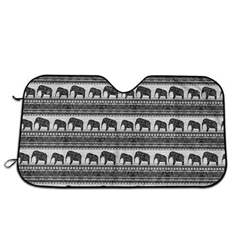 PecoStar - Parasol para Ventana Delantera de Coche con diseño de Elefante Mexicano Que Mantiene tu vehículo Fresco con protección contra Rayos UV, tamaño Universal para SUV/camión
