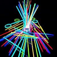 CSbrands Premium Glow Stick Bracelets (Mixed) 100 Pack
