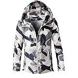 FRAUIT Männer Langarm Camouflage Printed Kapuzenpullover Herren Sweatshirt Herbst WinterJumper Sweatshirt Pullover Jacke Sweatjacke Kapuzenjacke Freizeit