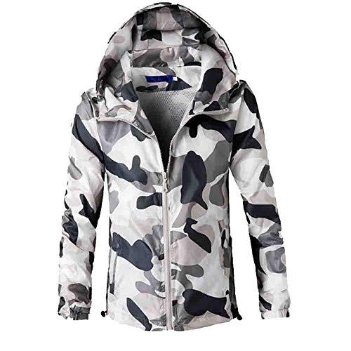 Herren Hoodie,TWBB Camouflage Drucken Pullover Oversized Kapuzenpullover Mit Reißverschluss Lange Ärmel Mantel Outwear Hemd