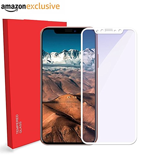 Shopping Monk® Apple iPhone X 3D Full Body Premium Quality Tempered Glass Screen Protector Guard (White)