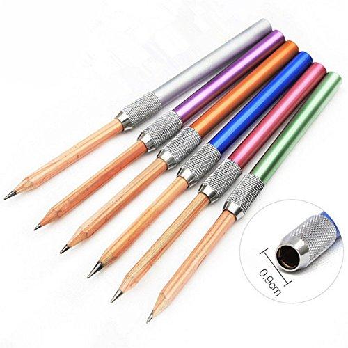 Hacoly 2 Stücke Bleistift Extender Stiftverlängerung Kinder Pencil Stiftverlängerer Extension...