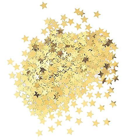 Unique Party - 90350 - Confettis Dorés en forme d'Étoile