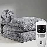 NJRDRT Heated Blanket Electric Blanket,Single/Double Underblanket Full Size, Fully Fitted Mattress Cover Elasticated
