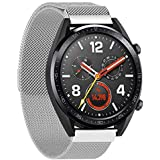 SKEIDO Stainless Steel Replace Mesh Band Strap for Huawei Magic/Watch GT/Ticwatch Pro sliver