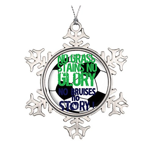 Fußball Keramik rund Weihnachten Ornament