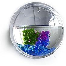 Fish Bowl, FAVOLOOK Hanging Aquarium Plants Trendy Wall Hanging Acrylic Fish Bowl Home Decoration Aquariums Flowerpot Decor Flower Vase(21.5cm)