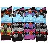3 Pairs Mens Boys Jigsaw Puzzle Designer Lycra Design  Socks Uk 6-11