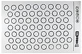 Homankit Macarons Matte, 63 Mulden für Macaronen die beste Macaronsunterlage, Makronenform, Backunterlage aus Platin-Silikon, LEBENSMITTELECHT, Silikonmatte, Teigmatte, Backfolie, Arbeitsmatte, Makronen, Macaronsmatte, hitzebeständig, lebensmittelecht, wiederverwendbar, Qualität, einfache Handhabung, FDA-Zertifiziert, universal Größe  Zufriedenheitsgarantie - 60x40 cm