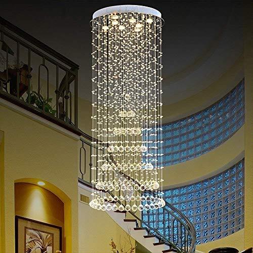 GCCI Lampadario di Cristallo di Lusso Villa Lampade Soffitto di lampadari di Cristallo Luci Scalinata Lounge Centri Commerciali Sala dell'Hotel Murano,40 * 100 Centimetri