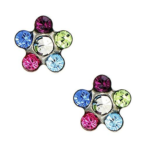 studex Tiny puntas de Rainbow Crystal 5mm Daisy Acero Inoxidable Chi