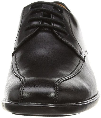 Clarks Gosworth Over, Chaussures de ville homme Noir (Black Leather)