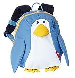sigikid, Mädchen und Jungen, Mini Rucksack, Motiv Pinguin, Blau/weiß, 24623