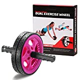 Gallant Abdominal Exercise Ab Wheel Roller With Knee Mat (Pink)