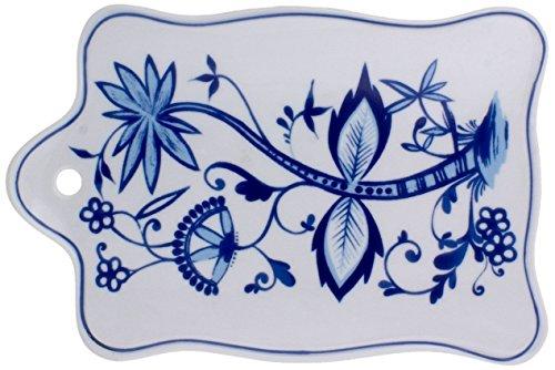 Kahla - Porcelaine pour les Sens 207775A72067U Rossella Zwiebelmuster Plateau/Planche à Petit Déjeuner Bleu 24 x 16 cm