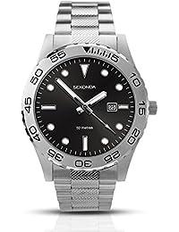 SEKONDA 1133 - Reloj de cuarzo para hombres, color plata