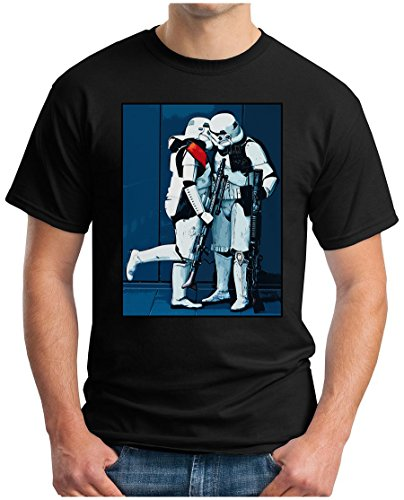 OM3 - GAY STORMTROOPER TRUE LOVE - T-Shirt AMOR AMOUR DARTH VADER SciFi HOMO, L, Schwarz