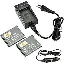 DSTE 2-Pieza Repuesto Batería y DC16E Viaje Cargador kit para Sony NP-BK1