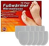 M&H-24 5 Paar Fußwärmer Pads Wärmesohlen für Schuhe, Schuh Wärmepads für warme Zehen und Füße, Dünne Heiz-Pads passend für alle Schuhe