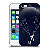 Head Case Designs Parachute Voyage de Lune Étui Coque en Gel Molle pour iPhone 5 iPhone 5s iPhone Se